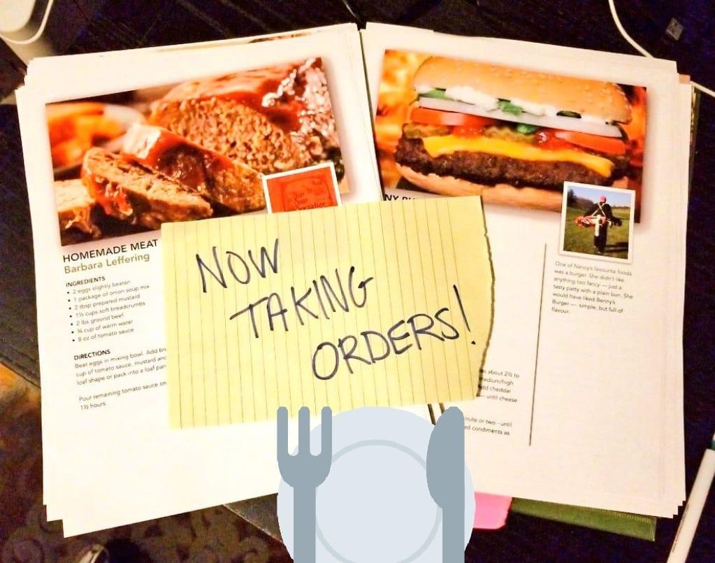 Cookbook Now Taking Orders
