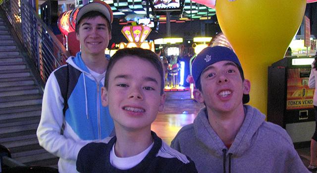 Boys at Playdium