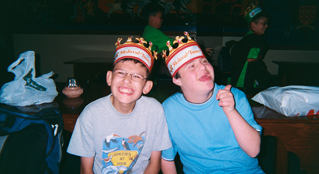 Boys at Medieval Times