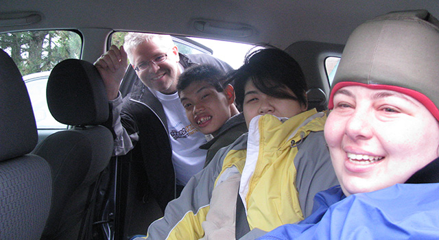 Days of Caring Group in the Car