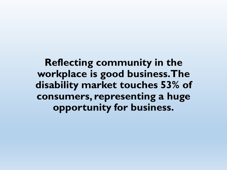 Reflecting community in the workplace is good business